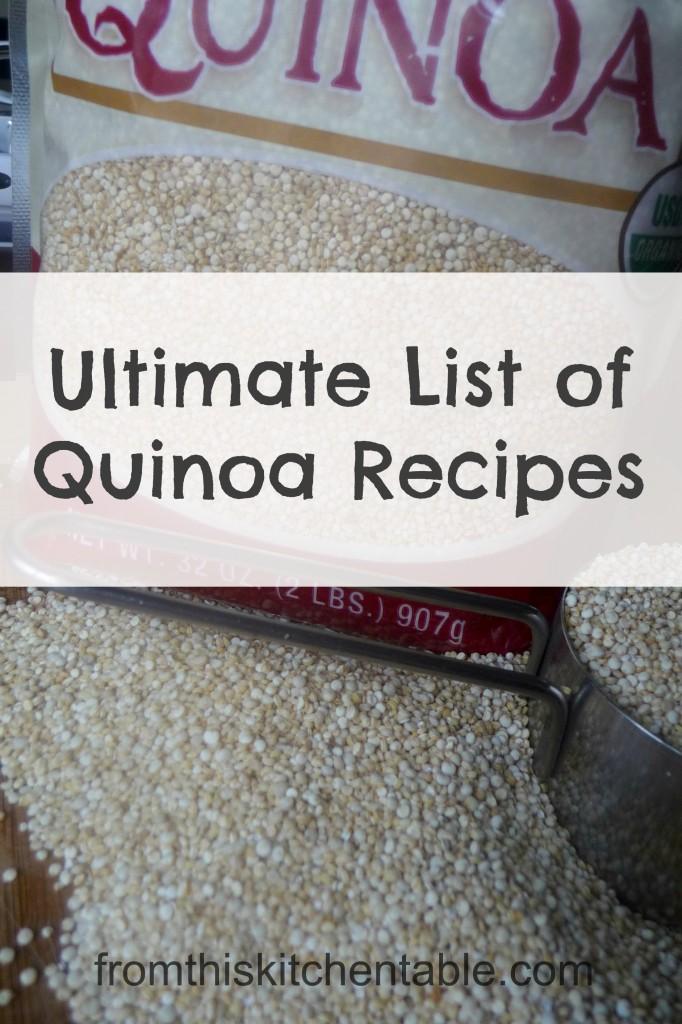 Ultimate List of Quinoa Recipes