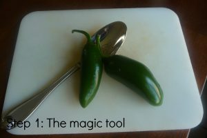 Step 1 The spoon