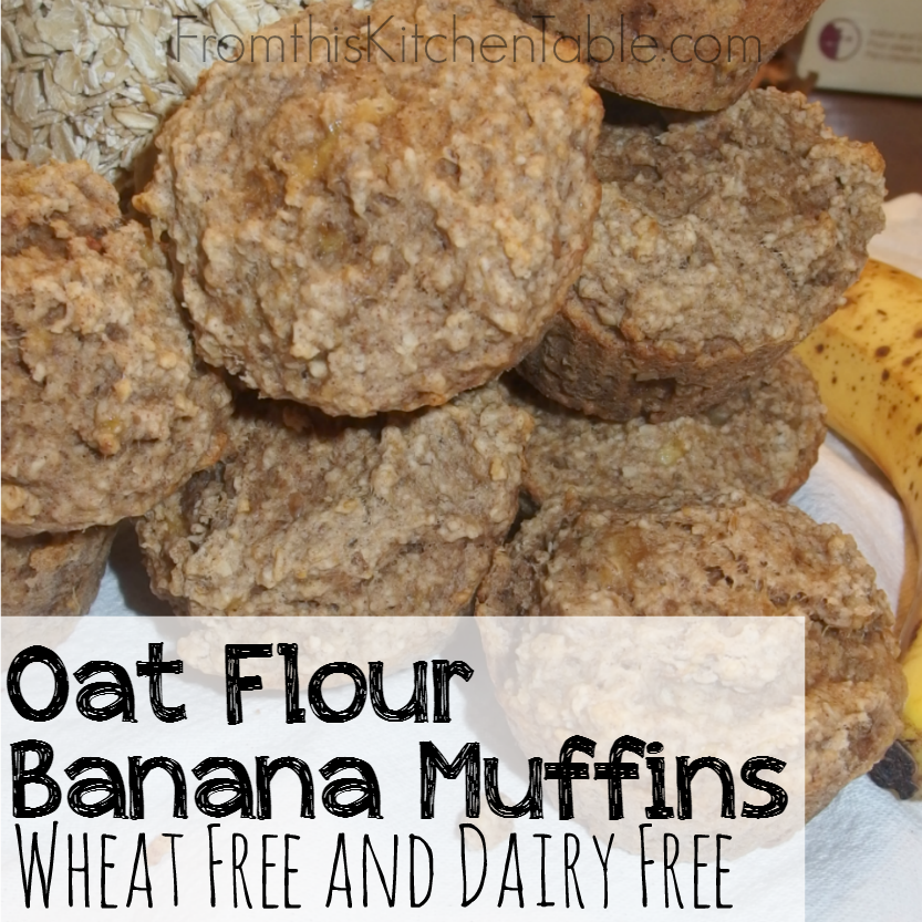 These Oat Flour Banana Muffins are one of our favorite breakfasts are both wheat and dairy free. Bonus - they freeze great. Need to add these to your menu!