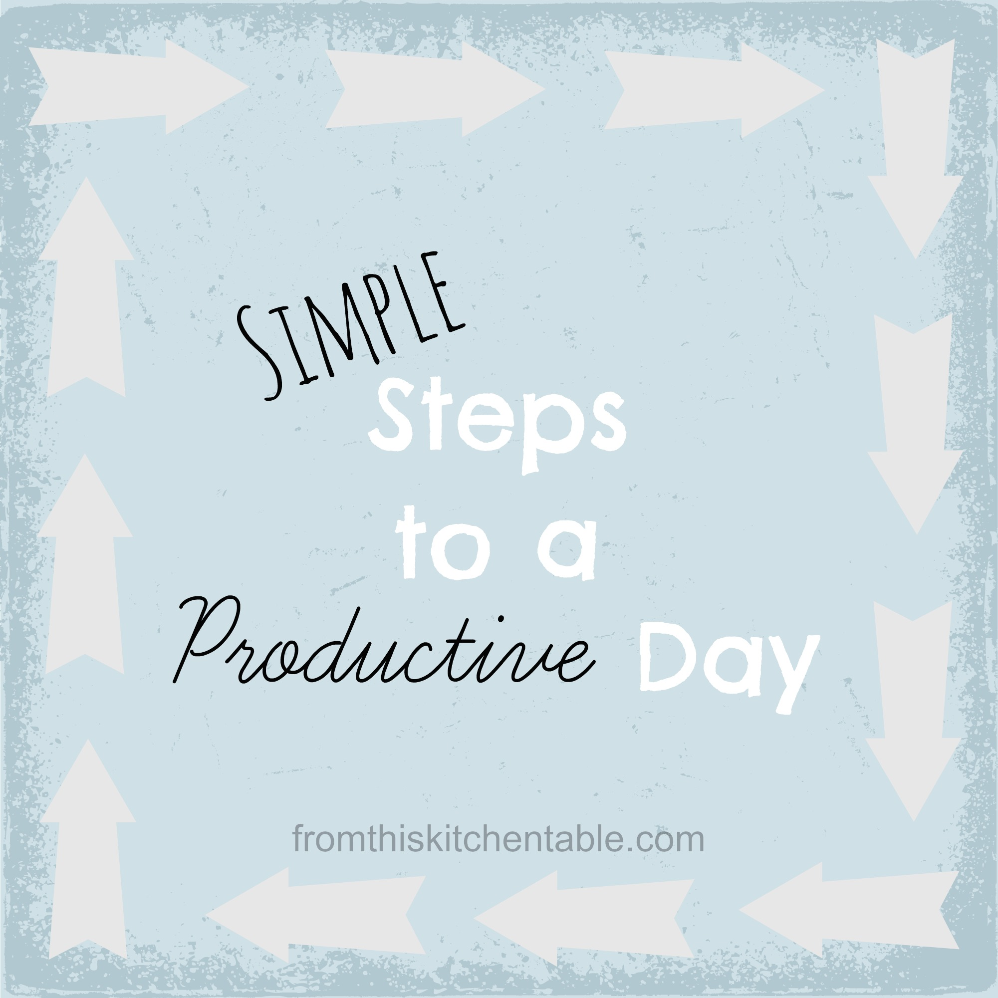 Steps To A Productive