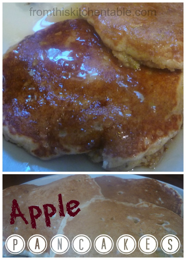 Easy and healthy apple pancakes! Freeze well too.