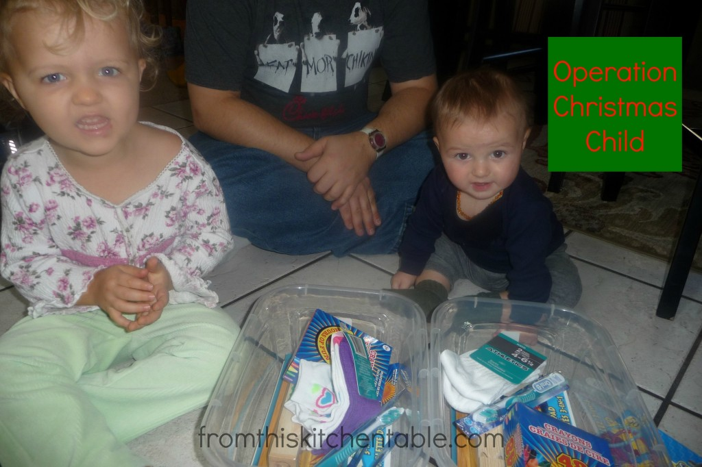 Preschool Service Project - Operation Christmas Child