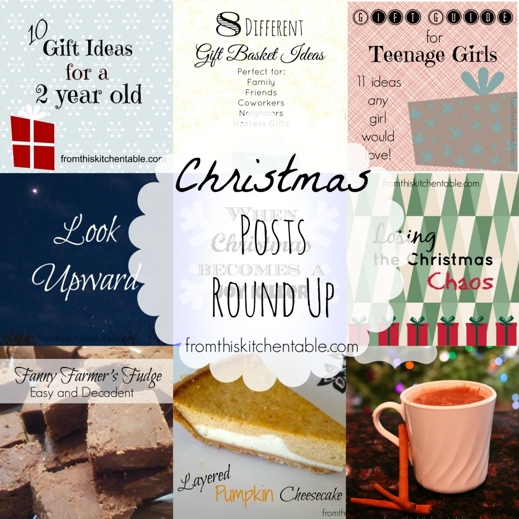 Christmas Posts Round Up - Food and Drinks, Gift Ideas, and Thoughts on the holiday