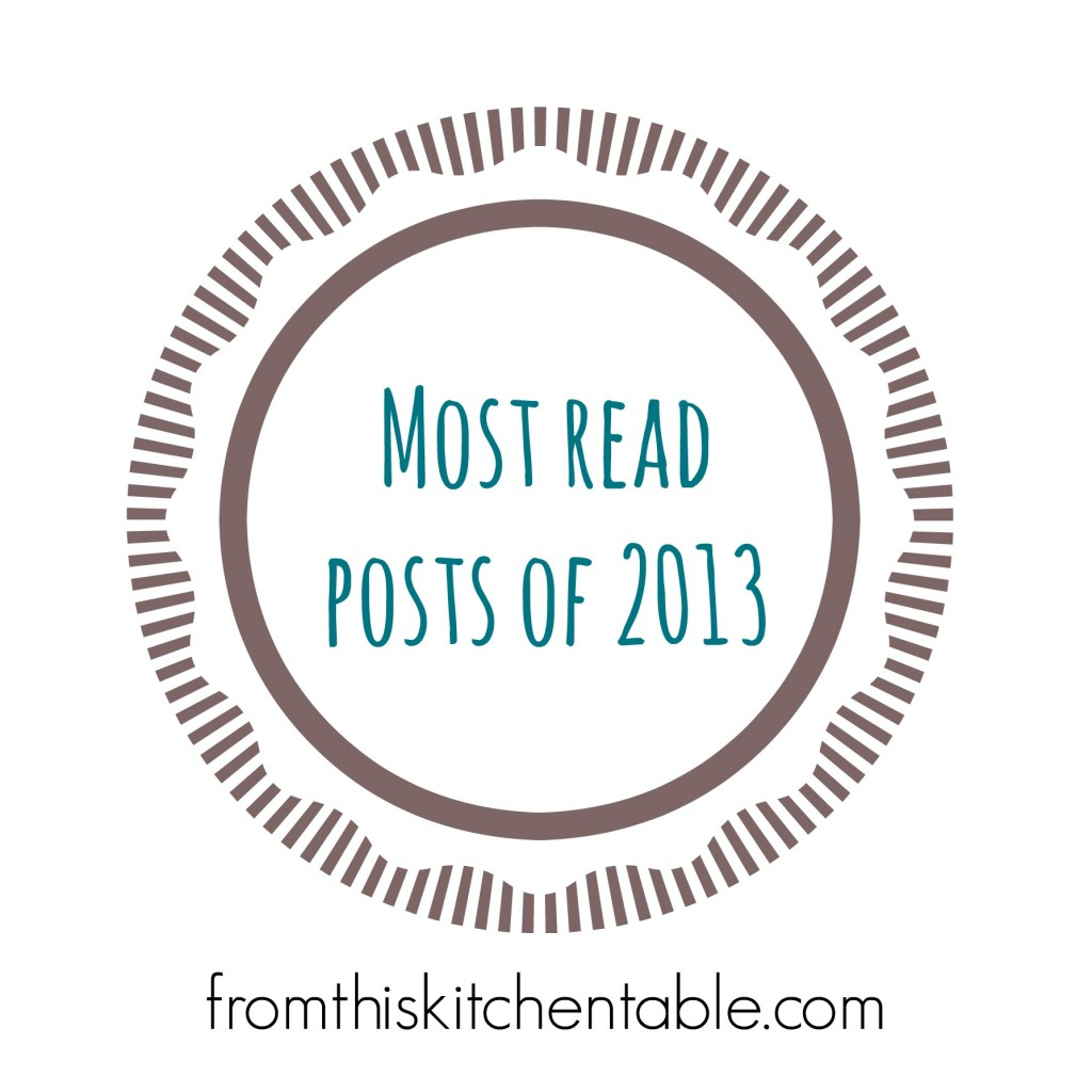 Most read posts of 2013 on FromthisKitchenTable.com