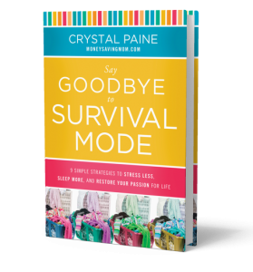 Say Goodbye to Survival Mode. I loved this book. It spoke so much truth and encouragement into my life.