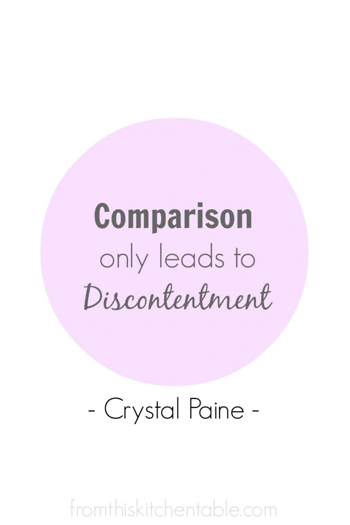 Comparison Leads to Discontentment - Crystal Paina