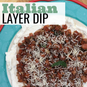 This easy and oven free Italian Layer Dip is amazing! Perfect start to any meal. This will be a favorite.