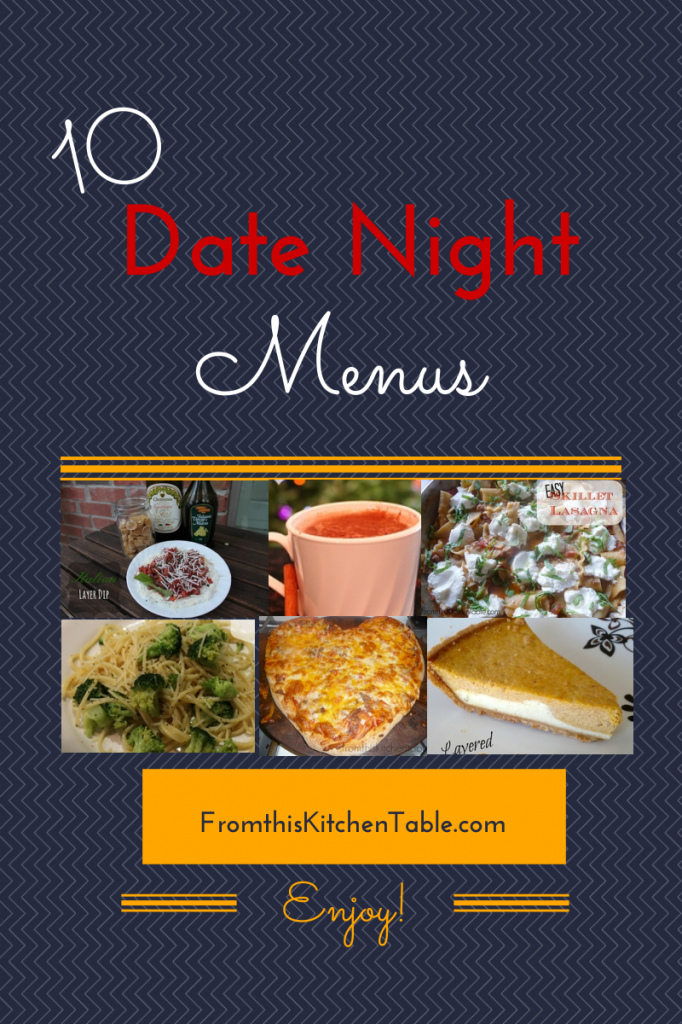 10 great meal ideas for an at home date night
