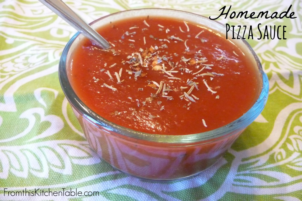 Easy and Delicious Homemade Pizza Sauce. You can whip this up in seconds and it freezes great!