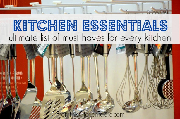 Kitchen Essentials! The list of must haves for every kitchen. Great for making wedding registries or updating your own kitchen!