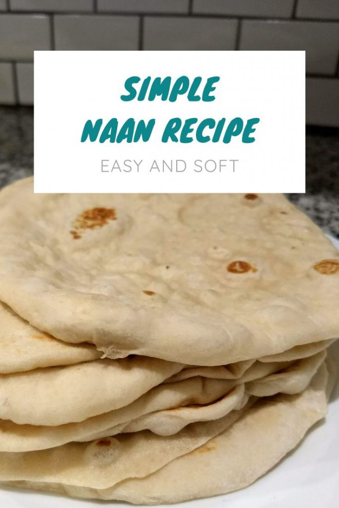 stack of simple and delicious homemade naan!