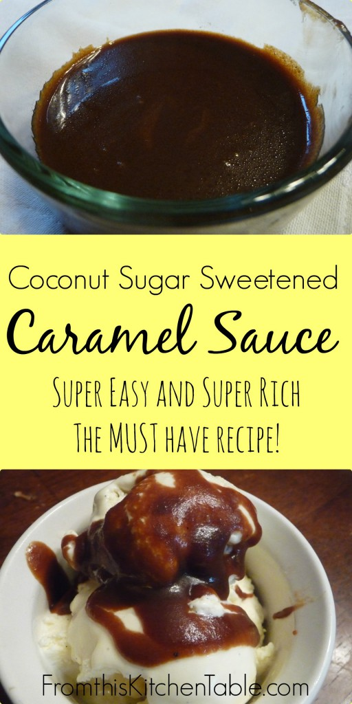 The easiest and richest caramel sauce ever! AND it's all real food. Can't beat that. Must try recipe. Perfect for ice cream too.