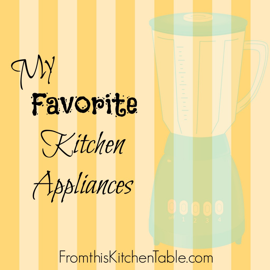 Great ideas for a registry or stocking your kitchen | A list of my favorite kitchen appliances. The last one might surprise you - I LOVE it!