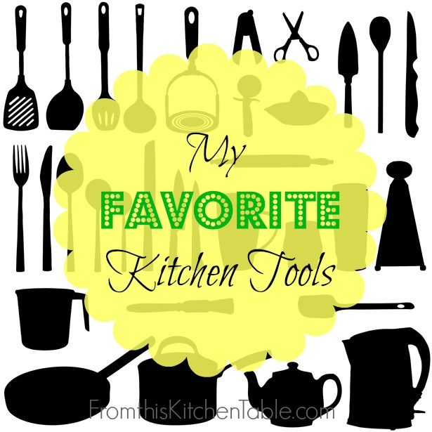 My Favorite Kitchen Tools! You will want to make sure you have these in your kitchen: cheese plane, rubber spatula, good pots and pans and more! Great ideas for my kitchen or a wedding registry.
