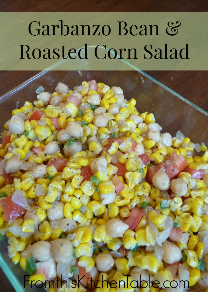 Garbanzo Bean and Roasted Corn Salad | Perfect side dish for grilling and the leftovers make a tasty lunch. I love this!!!