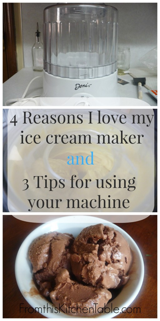My FAVORITE kitchen appliance - an automatic ice cream maker. Why I like it and tips for using the machine. You are going to want one of these!