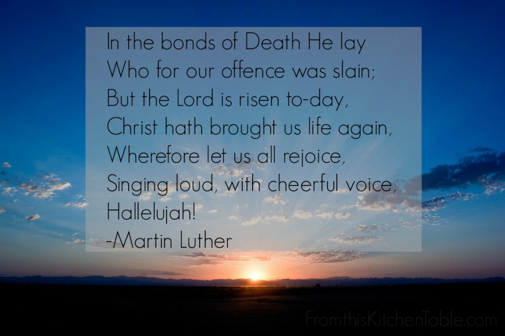 In the bonds of Death He lay quote from Martin Luther