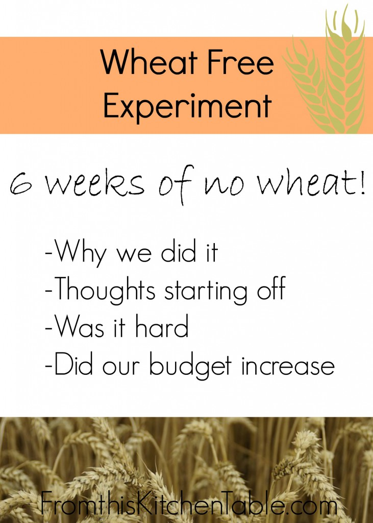 Why we went wheat free for 6 weeks. It was actually easier than I thought!