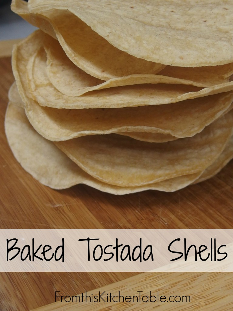 Baked Tostada Shells. The easiest thing in the world! Avoid yucky oils and other ingredients by baking them!