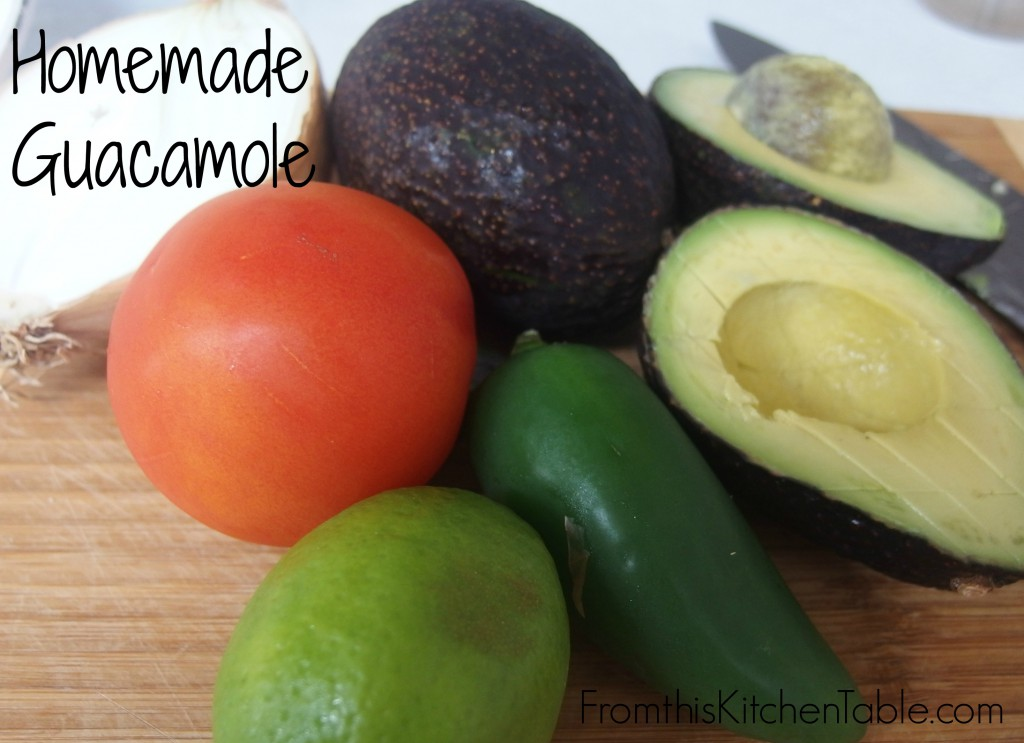 Homemade Guacamole - easy and delicious! This recipe came from a Mexican restaurant and is so good.