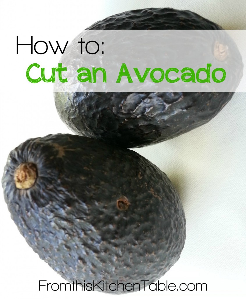 A super easy way to cut an avocado. Fast and gets all of it out! Learned this at a Mexican restaurant and used it ever since!
