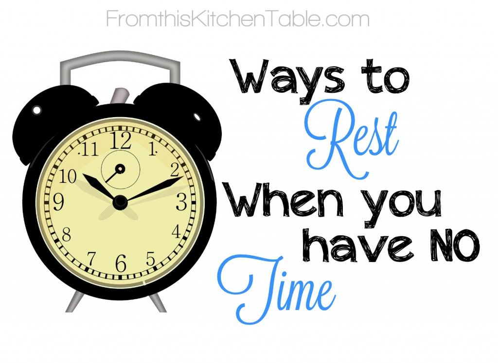 For those days when I'm exhausted but have a million and one things to do and I'm about to lose it. | Great easy ideas on ways to rest when you have no time!