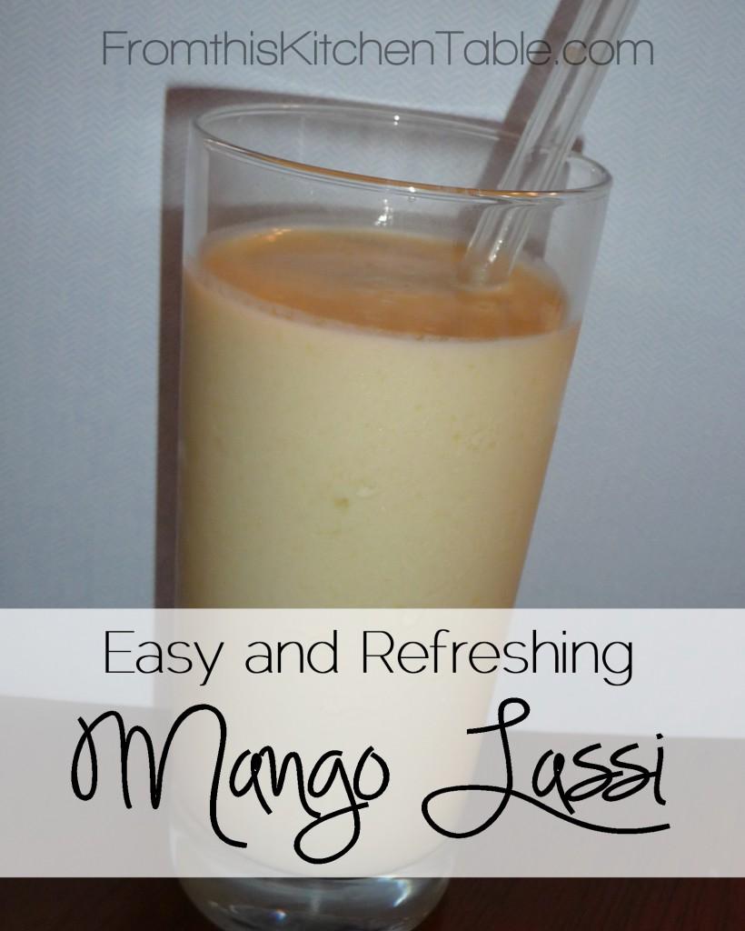 So good! Easy, Healthy, and Refreshing Mango Lassi. I Love this drink. #mangos #yogurt