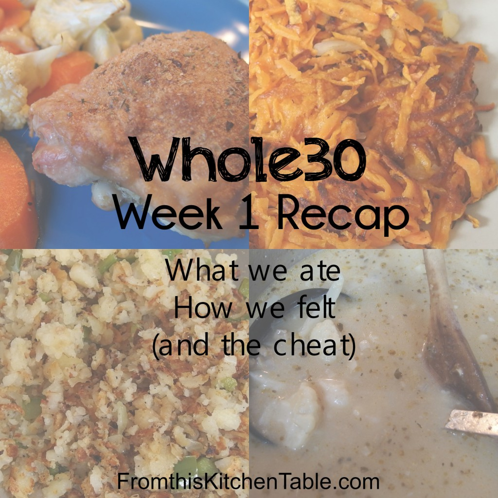 Whole30 Week 1 Recap! What we ate, how we felt, and more! WE SURVIVED!!!