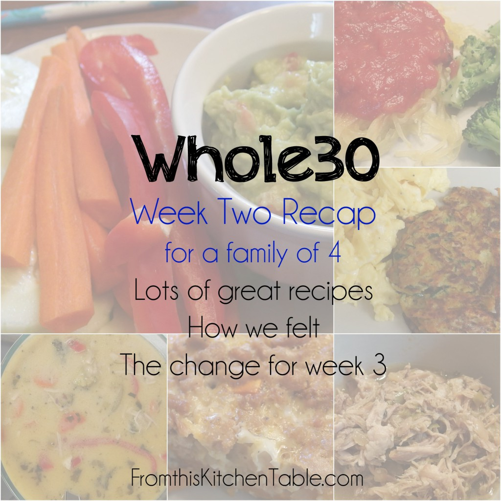 Whole30 Week 2 Recap! Great ideas for what to eat on a Whole30 or Paleo diet. Some of my favorites!
