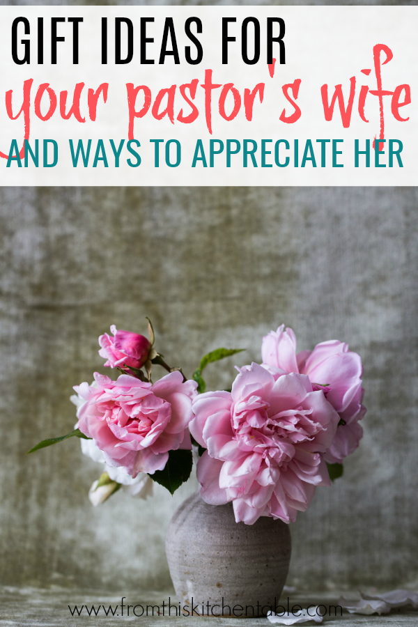 vase of flowers and ideas for pastor's wife gifts