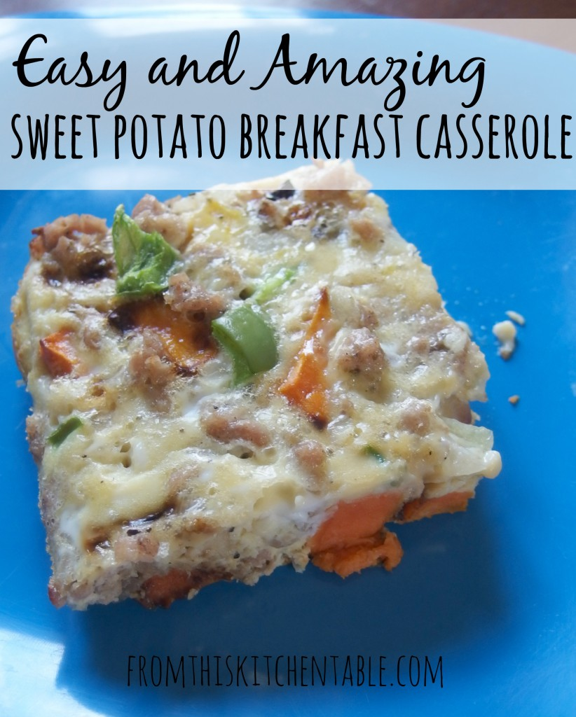 This sweet potato breakfast casserole is amazing and can even be made the night before! The leftovers taste amazing as well and it's #paleo and #whole30 approved. SO GOOD!