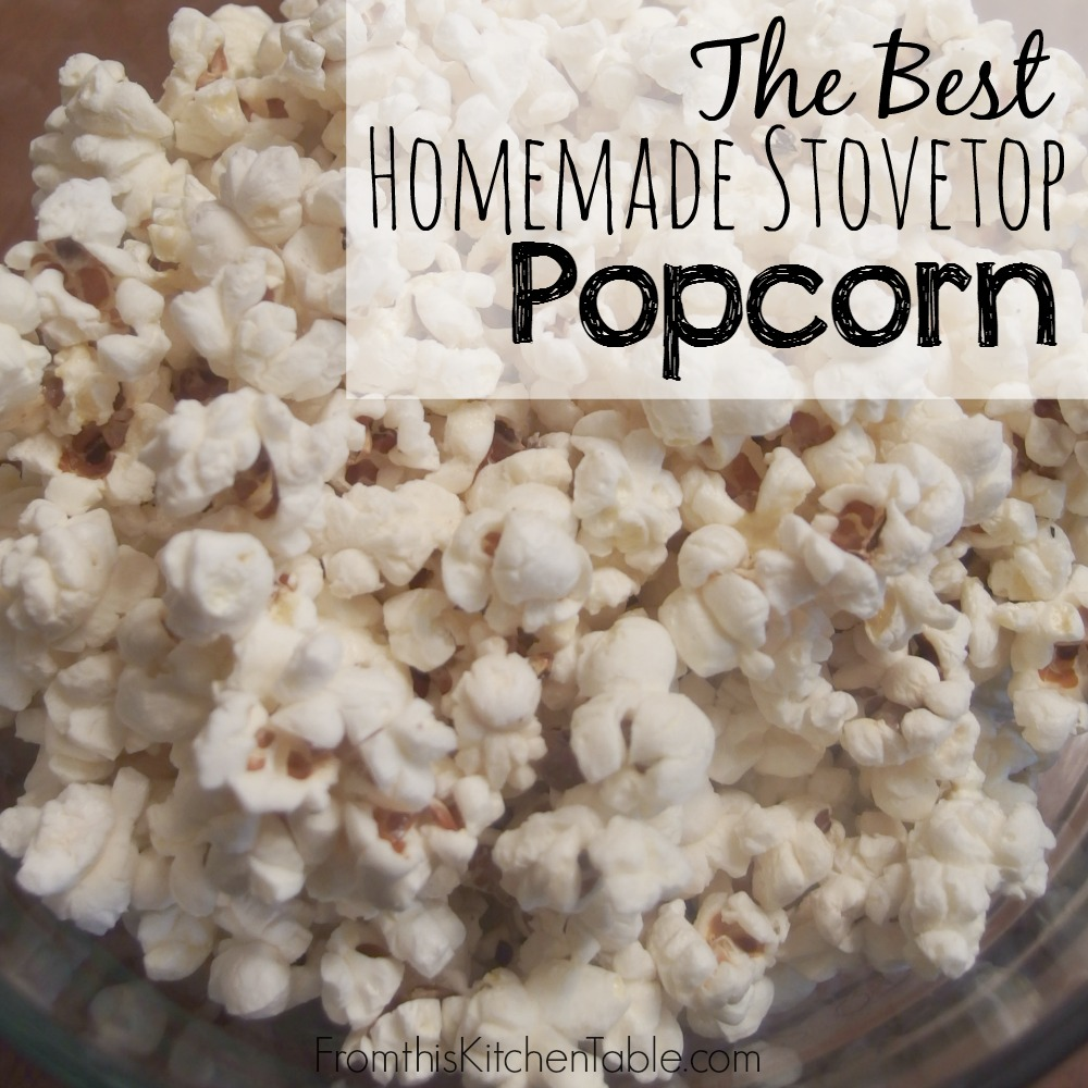 Mmm. The perfect snack. Leave the yucky microwaved stuff behind. With coconut oil, this is the BEST! New movie night tradition.