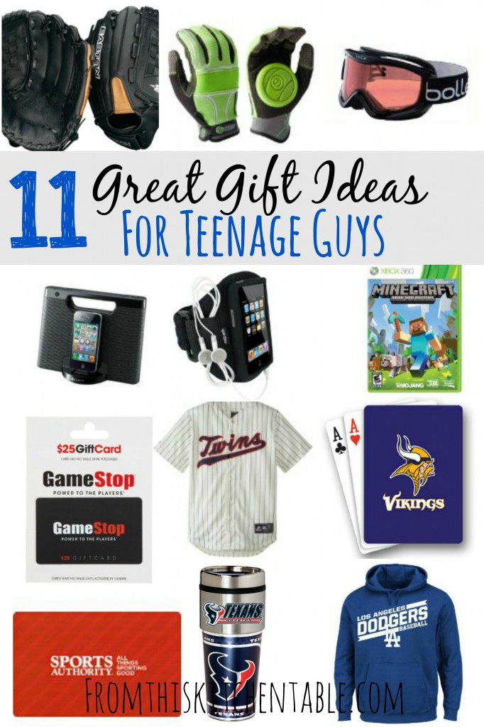 Gift Ideas for Teenage Boys - From This Kitchen Table