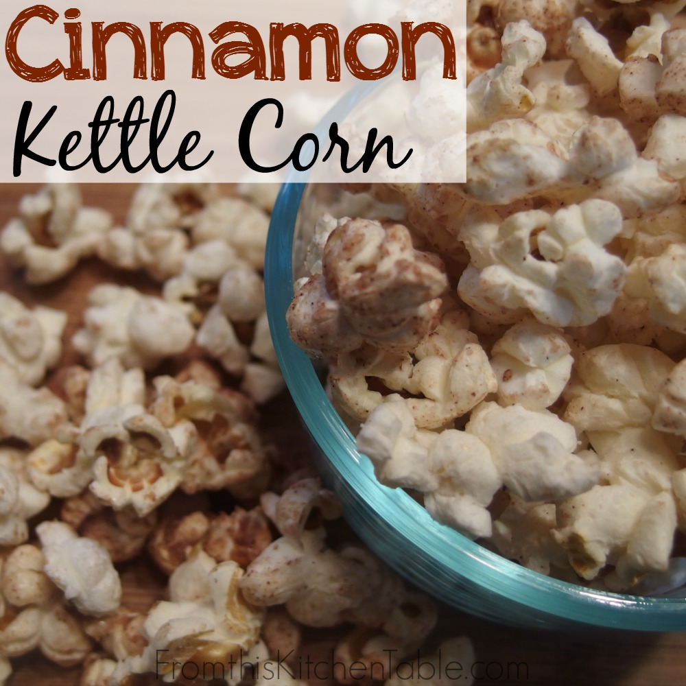 Cinnamon Kettle Corn | Oh my goodness. This stuff is amazing - you'll never what the regular stuff again.