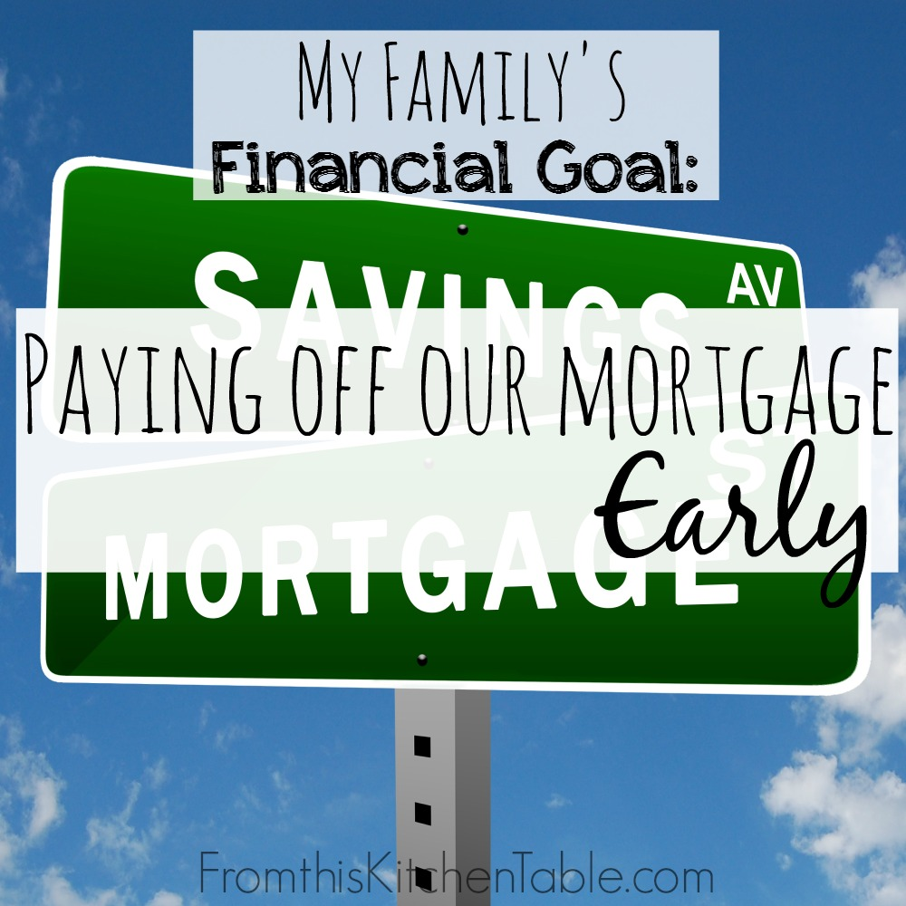 Financial goals can be scary and exciting! This year we are focusing on paying off our house - here's  how we are doing it!