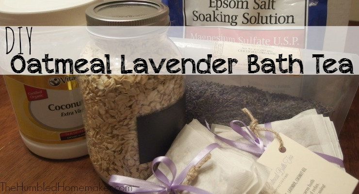 These Oatmeal Lavender Bath Teas are amazing! They help moisturize your skin and relax your muscles. Who knew bath time could get even better. :-)