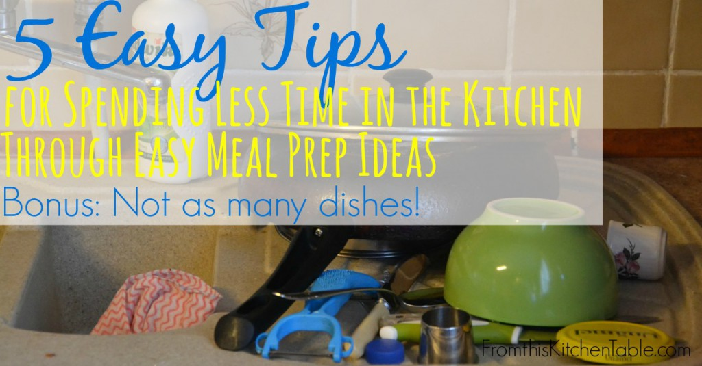 Making real food can take longer and some days I don't have the time. These tips are how I cut down on the time I spend in the kitchen.