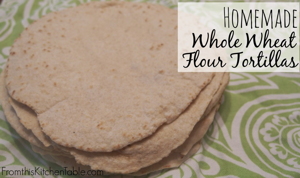 Yummy homemade whole wheat tortillas! These will take taco night to a whole new level and they are healthy too! A family favorite!