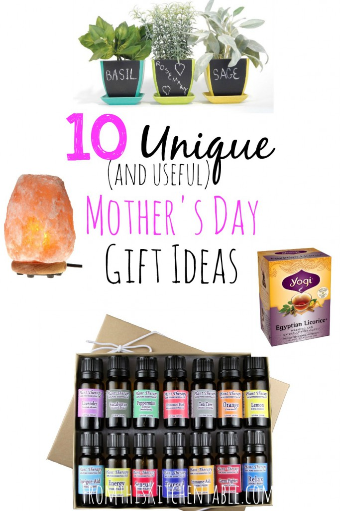 These are some great unique mother's day gift ideas that will also get used! I'd love every one of these. Great ideas to save for Christmas and birthdays too.