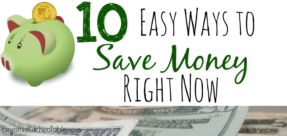 These are a few of the ways we use to save money! They really make a HUGE difference as we live on a low income and work to pay our house off early!