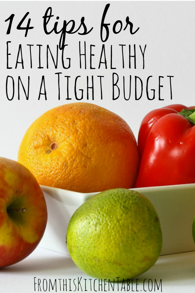 Eating healthy on a tight budget from this kitchen table for Eating table