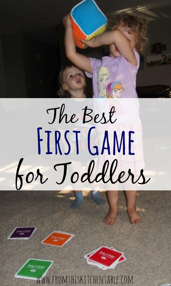 The best first game for toddlers! My kids both love this game - no small pieces or game boards to destroy so it's the perfect game for small kids!