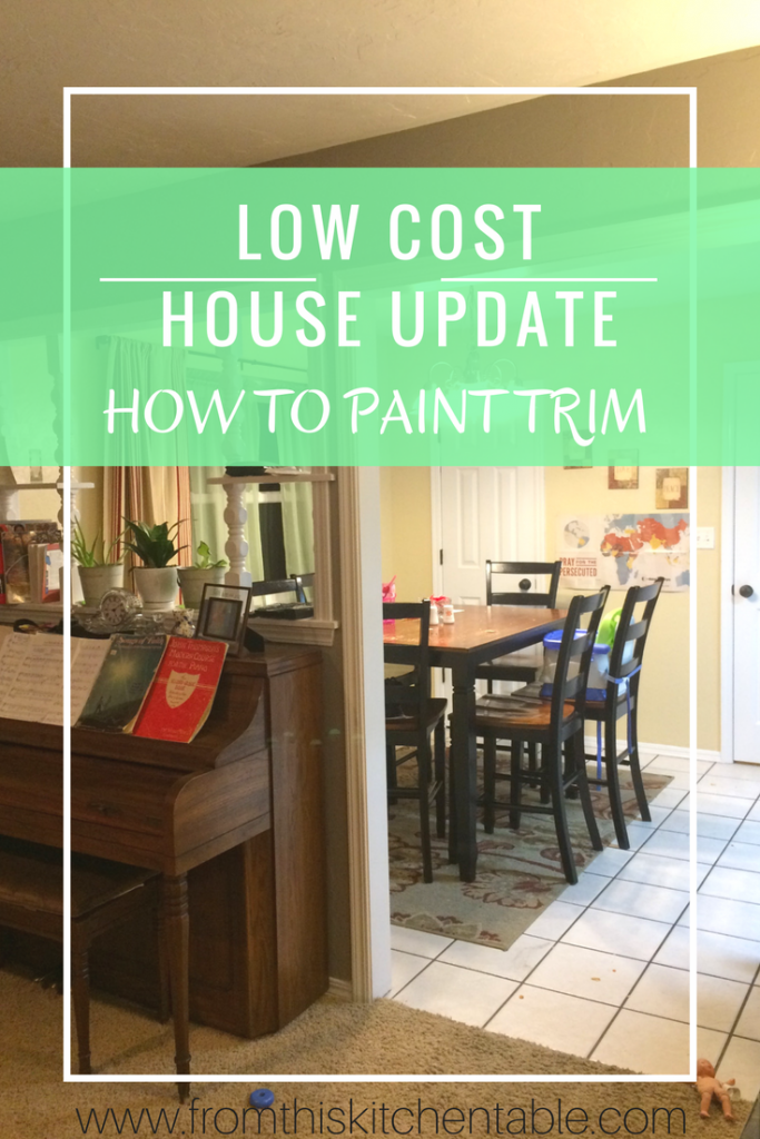 Painting Trim - A low cost house update