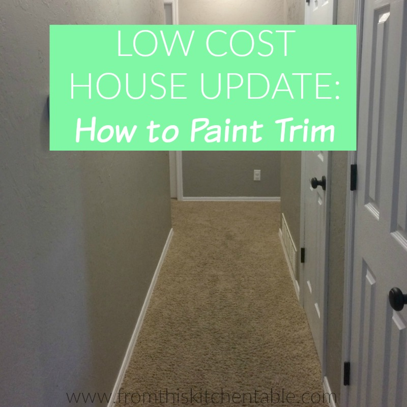 Painting Trim - a low cost house update that makes a HUGE difference in your home's look.