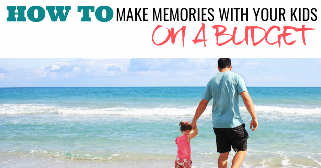 Walking the beach! Just because you don't have money for a vacation doesn't mean you can't make memories with your kids! Here are great ideas for turning the little moments into big ones!