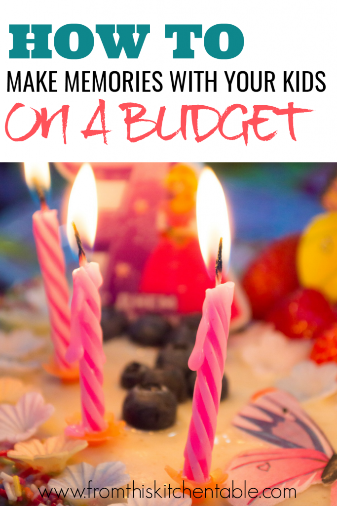 Just because you don't have money for a vacation doesn't mean you can't make memories with your kids! Here are great ideas for turning the little moments into big ones!