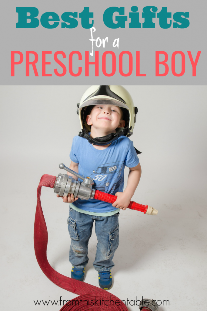 These are the best gift ideas for a preschool boy. They are all my sons FAVORITE things. Great ideas for every budget.