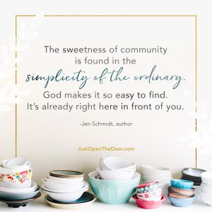 Quote on finding hospitality in the ordinary. Ways to be hospitable as an introvert.