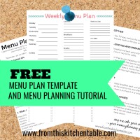 free menu plan template and tutorial