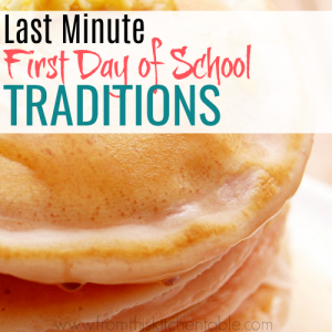 Super easy, last minute, and frugal first day of school activities you need to check out. Your kids will love doing these traditions year after year.